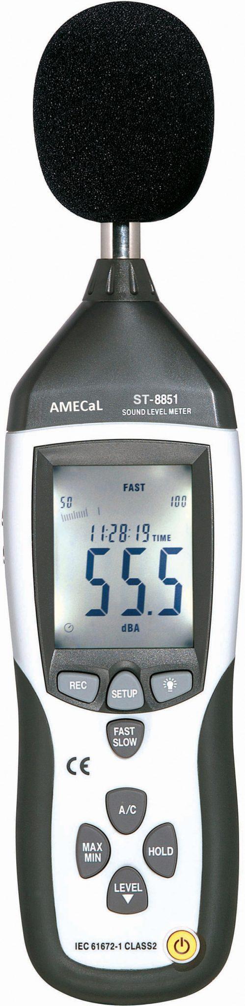 St 8851 Sound Level Meter Amecal Aml Instruments Pressure