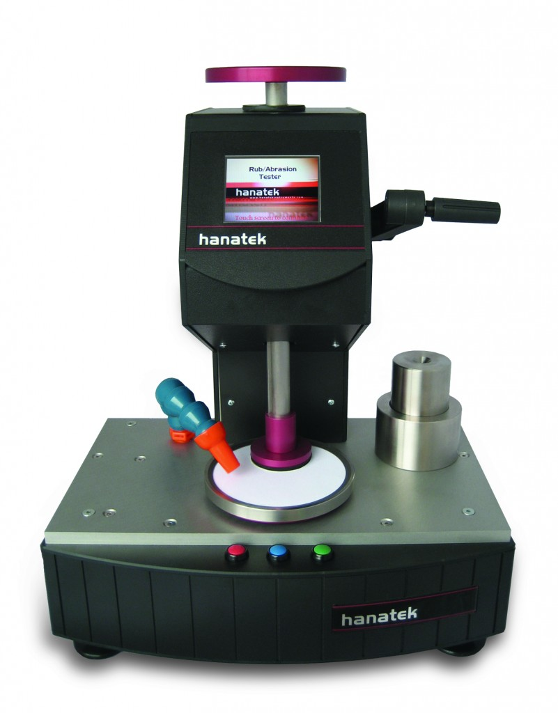 Rub and Abrasion Tester BS 3110 Methods for measuring the rub resistance of print